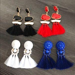 Set of fringe earrings